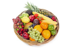 Cesta de fruta imagens de stock royalty free
