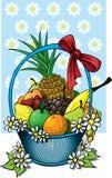 Cesta de fruta Fotos de Stock Royalty Free