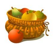 Cesta de frutas Fotos de archivo libres de regalías