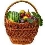 Cesta de fruto do outono Fotos de Stock Royalty Free