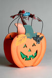 Cesta de Halloween foto de stock