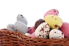 Cesta de huevos Imagenes de archivo