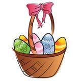 Cesta de huevos de Pascua stock de ilustración