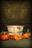 Cesta de la calabaza de otoño Imagen de archivo libre de regalías