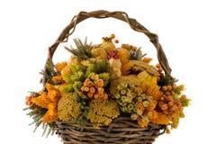 Cesta de la flor Foto de archivo libre de regalías