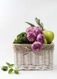 Cesta de las verduras Fotos de archivo