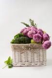Cesta de las verduras Fotografía de archivo
