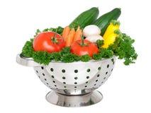 Cesta de las verduras frescas Imagen de archivo libre de regalías
