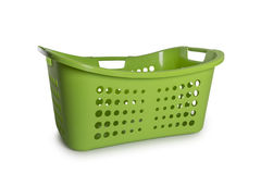 Cesta de lavadero verde Imagen de archivo libre de regalías