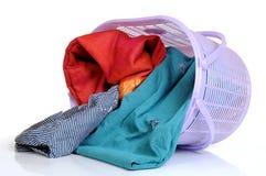 Cesta de lavanderia Imagem de Stock