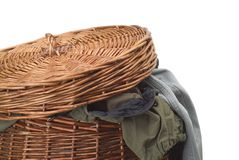 Cesta de lavanderia Foto de Stock Royalty Free