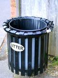 Cesta de lixo inglesa Imagens de Stock
