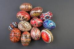 Cesta de los huevos de Pascua Imagenes de archivo