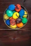 Cesta de los huevos de Pascua Foto de archivo