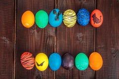 Cesta de los huevos de Pascua Foto de archivo libre de regalías