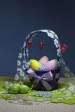 Cesta de los huevos de Pascua Imágenes de archivo libres de regalías