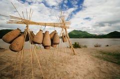 Cesta de los pescados Fotos de archivo libres de regalías