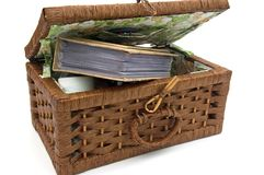 Cesta de madera Fotografía de archivo