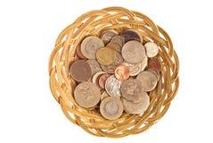 Cesta de moneda Imagen de archivo libre de regalías