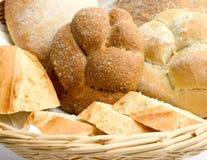 Cesta de pan Foto de archivo libre de regalías