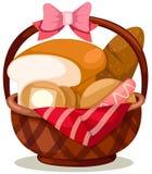 Cesta de pan Imagen de archivo libre de regalías