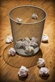 Cesta de papel Waste Imagens de Stock Royalty Free