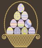 Cesta de Pascua Ilustración del Vector