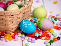 Cesta de Pascua Foto de archivo