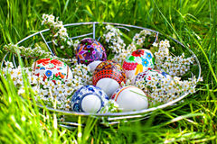 Cesta de Pascua Fotos de archivo libres de regalías