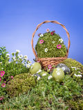 Cesta de Pascua Fotos de archivo