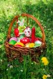 Cesta de Pascua adornada Imágenes de archivo libres de regalías