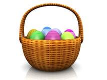 Cesta de Pascua con los huevos Foto de archivo