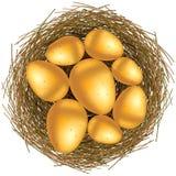 Cesta de Pascua con los huevos de oro