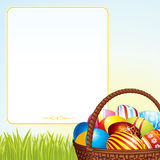 Cesta de Pascua del resorte Imagen de archivo