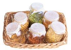 Cesta de sementes emergentes embebidas Fotografia de Stock