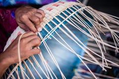 Cesta de tecelagem Imagem de Stock Royalty Free
