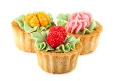 Cesta de três bolos Fotografia de Stock Royalty Free