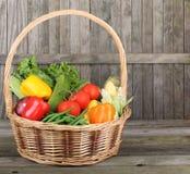 Cesta de vegetais Nutritious fotografia de stock