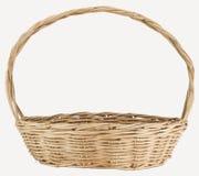 Cesta de vime do weave do vintage Imagem de Stock Royalty Free