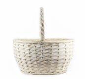 Cesta de vime do weave do vintage Fotografia de Stock Royalty Free