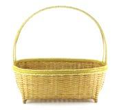 Cesta de weave de bambu Fotos de Stock Royalty Free