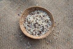 Cesta del arroz Fotos de archivo libres de regalías