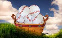 Cesta del béisbol Fotografía de archivo