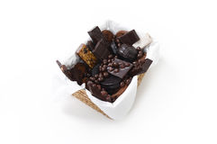 Cesta del chocolate Fotos de archivo