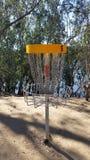 Cesta del golf del disco volador Fotografía de archivo