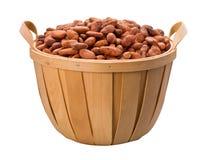 Cesta del grano de cacao Fotografía de archivo libre de regalías