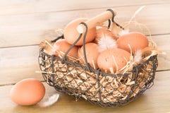 Cesta del huevo Imágenes de archivo libres de regalías