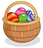 Cesta del huevo de Pascua Fotografía de archivo