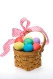 Cesta del huevo de Pascua Fotografía de archivo libre de regalías