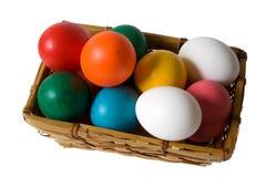 Cesta del huevo de Pascua Foto de archivo